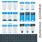 set of pricing table design... | Shutterstock .eps vector #622344818