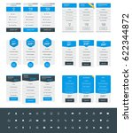 set of pricing table design... | Shutterstock .eps vector #622344872