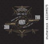 vintage typographic label... | Shutterstock .eps vector #622349075