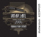 vintage typographic label... | Shutterstock .eps vector #622349105