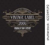 vintage typographic label... | Shutterstock .eps vector #622349192