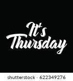 it's thursday  text design.... | Shutterstock .eps vector #622349276