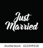 just married  text design.... | Shutterstock .eps vector #622349318