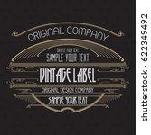 vintage typographic label... | Shutterstock .eps vector #622349492