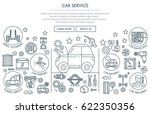 car service illustration with... | Shutterstock .eps vector #622350356