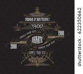 vintage typographic label... | Shutterstock .eps vector #622350662