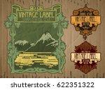 vector vintage items  label art ... | Shutterstock .eps vector #622351322