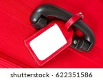 suitcase tag  empty travel... | Shutterstock . vector #622351586