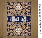 vector vintage items  label art ... | Shutterstock .eps vector #622352852