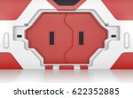 futuristic metallic red door ... | Shutterstock . vector #622352885
