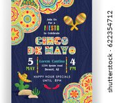 cinco de mayo poster template.... | Shutterstock .eps vector #622354712