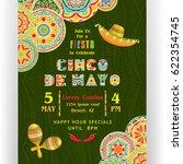 cinco de mayo poster template.... | Shutterstock .eps vector #622354745