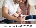 close up of couple signing... | Shutterstock . vector #622355582
