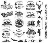hiking club badges with design... | Shutterstock .eps vector #622356998