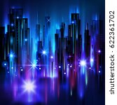 night city background  with... | Shutterstock . vector #622361702