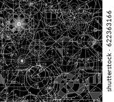 mathematical vector seamless... | Shutterstock .eps vector #622363166