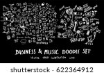business music doodles sketch... | Shutterstock .eps vector #622364912