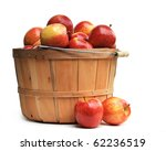 Apples In A Wooden Basket On...
