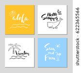 collection of four beautiful... | Shutterstock .eps vector #622365566