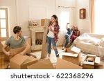 happy young friends having fun... | Shutterstock . vector #622368296