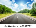 road in russian forest | Shutterstock . vector #62237722