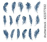 feather pattern | Shutterstock .eps vector #622377332