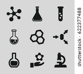 scientific icons set. set of 9... | Shutterstock .eps vector #622377488