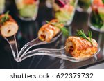 beautifully decorated catering... | Shutterstock . vector #622379732
