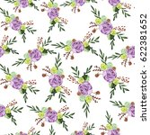 seamless pattern with lilac... | Shutterstock . vector #622381652