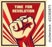 vintage style vector revolution ... | Shutterstock .eps vector #622383875