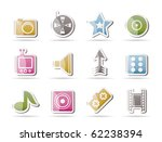 entertainment and media icons   ... | Shutterstock .eps vector #62238394