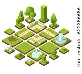 isometric urban elements and... | Shutterstock .eps vector #622386686