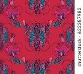 seamless floral pattern | Shutterstock .eps vector #622387982