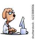 illustration of a business dog... | Shutterstock . vector #622388006
