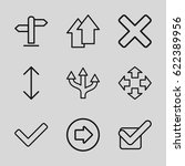 right icons set. set of 9 right ... | Shutterstock .eps vector #622389956