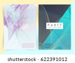 intertwined colorful lines.... | Shutterstock .eps vector #622391012