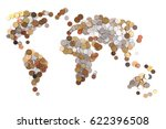 Old World Coins As World Map...