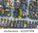 aerial view of residential... | Shutterstock . vector #622397498