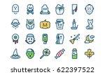 hloween icon set  filled... | Shutterstock .eps vector #622397522