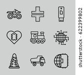 drive icons set. set of 9 drive ... | Shutterstock .eps vector #622399802