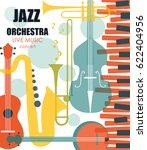 vector poster for the jazz... | Shutterstock .eps vector #622404956