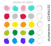 colour the boxes. educational... | Shutterstock .eps vector #622406132