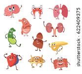 human organs with funny... | Shutterstock .eps vector #622409375