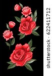 beautiful flowers embroidery.... | Shutterstock . vector #622411712