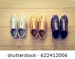 fashion shoes and sneaker on...   Shutterstock . vector #622412006