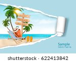 summer vacation background.... | Shutterstock .eps vector #622413842