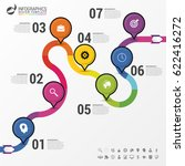 abstract colorful business path.... | Shutterstock .eps vector #622416272