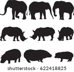 three types of largest african...   Shutterstock .eps vector #622418825