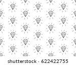 black decorative seamless... | Shutterstock .eps vector #622422755