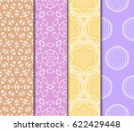 set of vector seamless pattern... | Shutterstock .eps vector #622429448